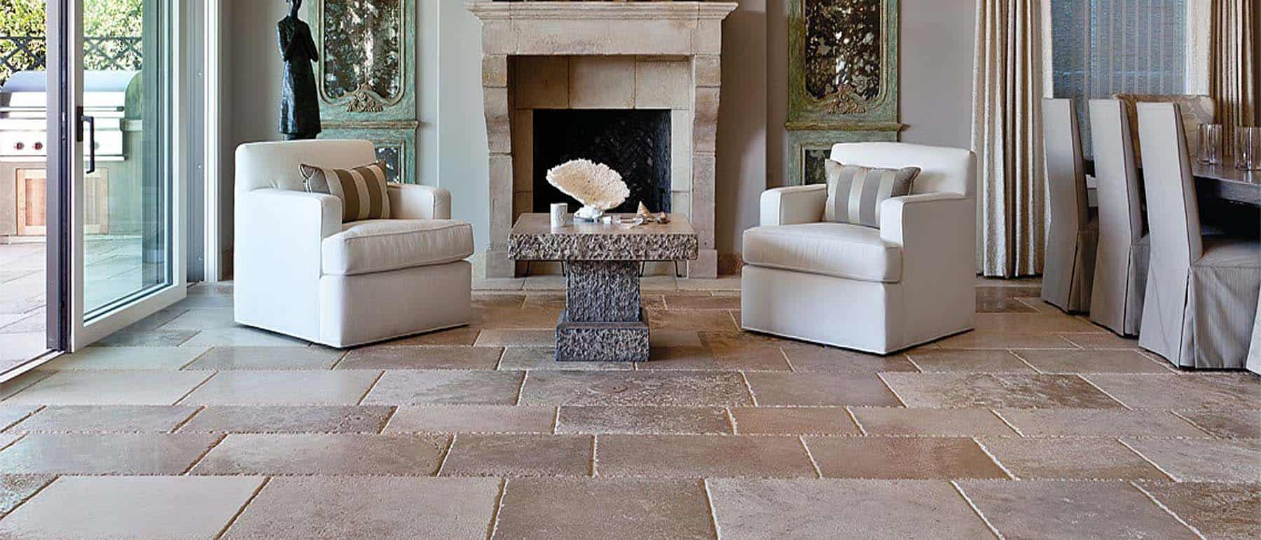 Burgundy-Mixed French Limestone Aged