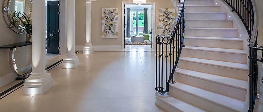 Limestone-flooring