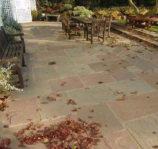 Autumn Sandstone exterior paving