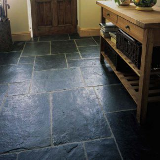 Black Flagstone Slate Cleft Slate Flooring