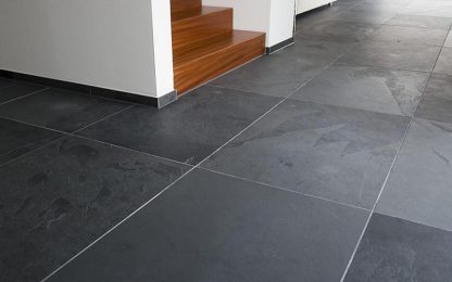 Black Brazilian Slate Cleft Slate Flooring