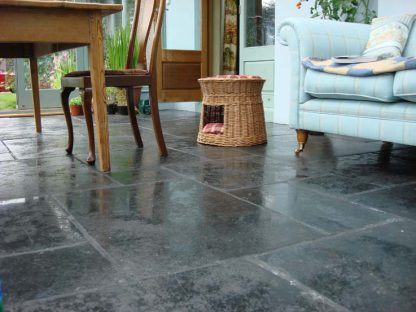 Cathedral Black Flagstone Stone Floor