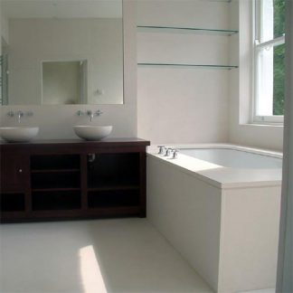 Branco Limestone Honed Stone Floor