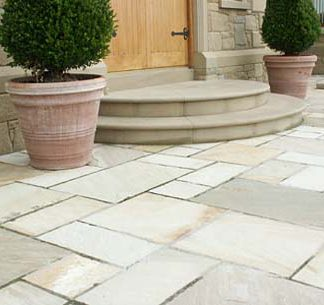 Buff Sandstone exterior paving