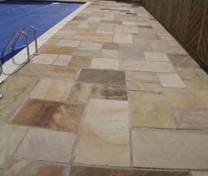 Fern Sandstone exterior paving