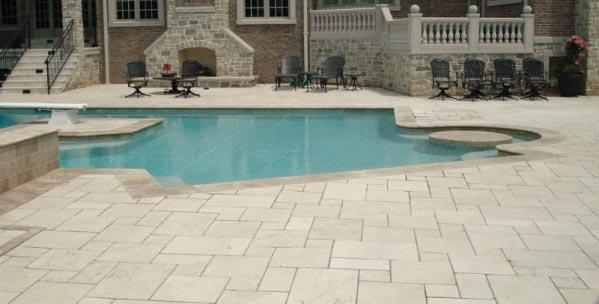 Malham Tumbled Opus Limestone exterior paving