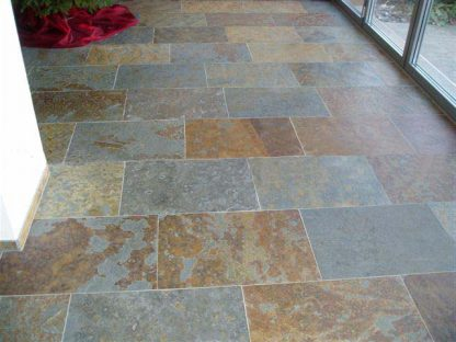 Multicolour Brazilian Slate Cleft Slate Flooring