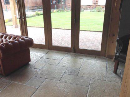 Ochre Flagstone Stone Floor