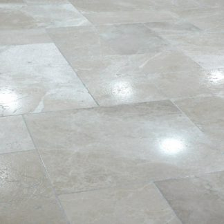 Pearl Grey Brushed Marble Flooring