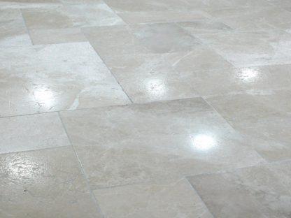 Pearl Grey Brushed Marble Flooring