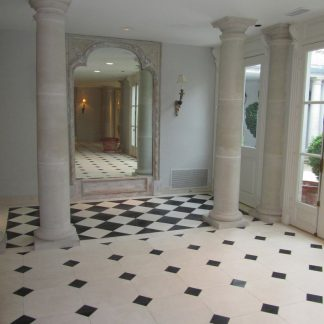 French Limestone with Cabuchon corners clipped