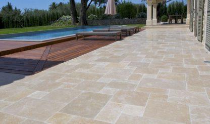 ochelle Tumbled Opus Limestone exterior paving