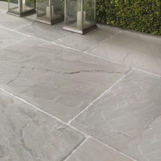 Salcombe Grey Sandstone Flagstone Stone Floor