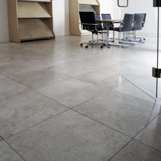 Torino Grey Limestone Honed Stone Floor