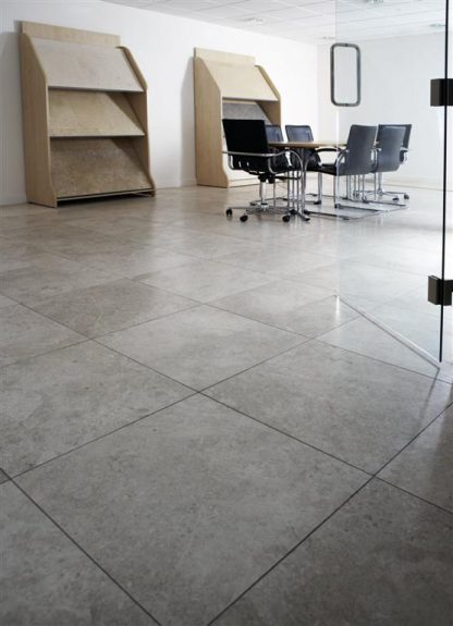 Torino Grey Limestone Honed Stone Floor