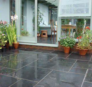 Black Limestone exterior paving