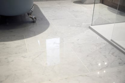 Carrara C Polished Marble Flooring