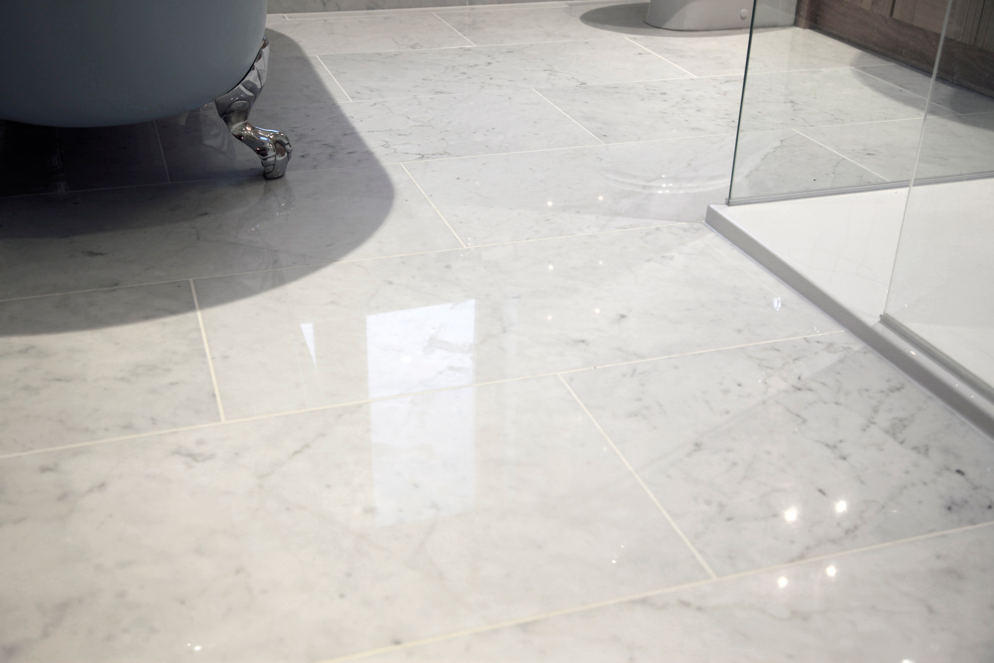 Carrara C Polished Marble Flooring Floortique