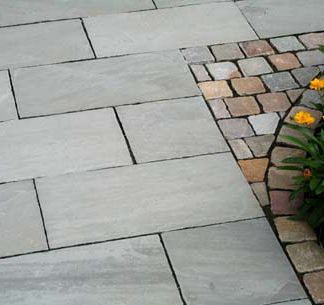 Grey Sandstone exterior paving