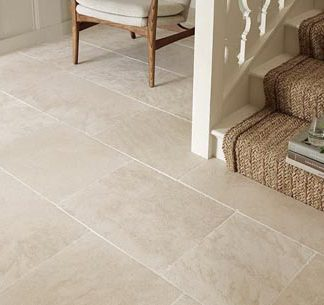 Cava Limestone Brushed Stone Floor. Creme do Mos