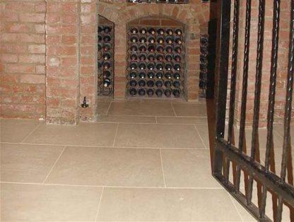 Cava Limestone Tumbled Stone Floor.