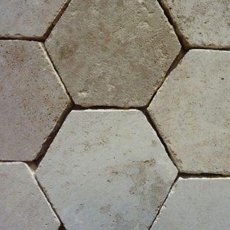 Burgundy Stone Hexagons