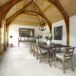 Cava Antique pillowed limestone floor